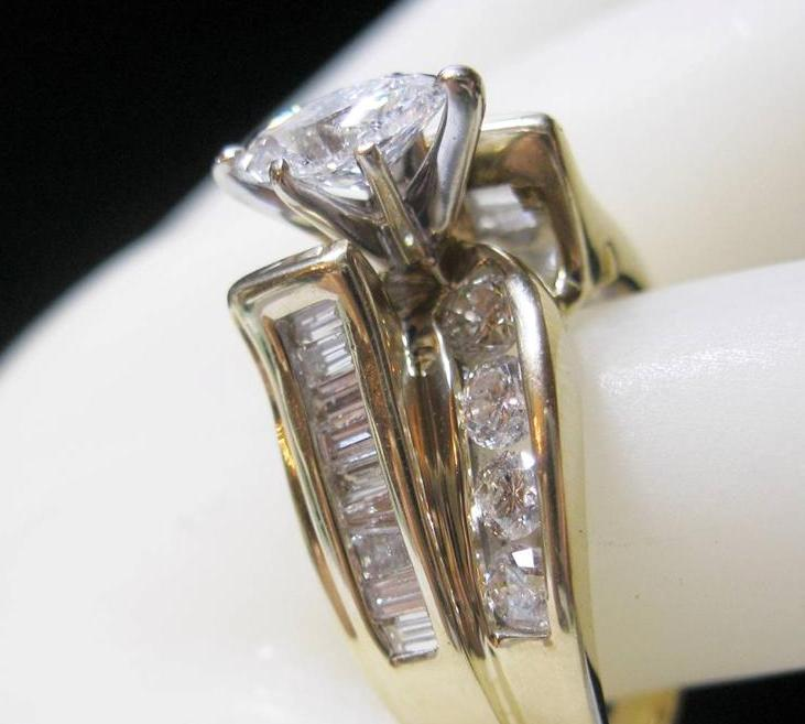 Engagement Rings 14K YELLOW GOLD 2 0 CTW DIAMOND ENGAGEMENT RING 50 CT M