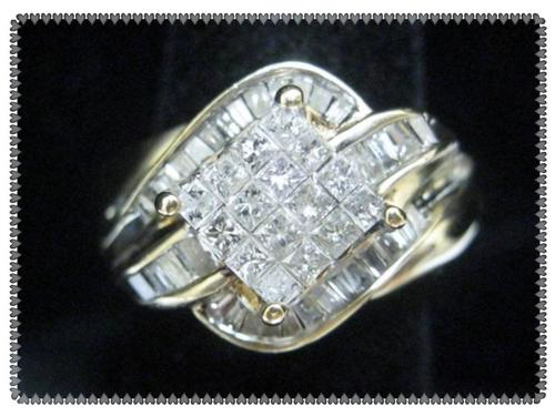 Engagement Rings IN STOCK 10K YELLOW GOLD 1 5 CTW DIAMOND RING wi