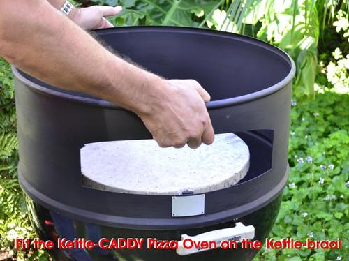 KettleCADDY Pizza Oven on 57cm Kettle