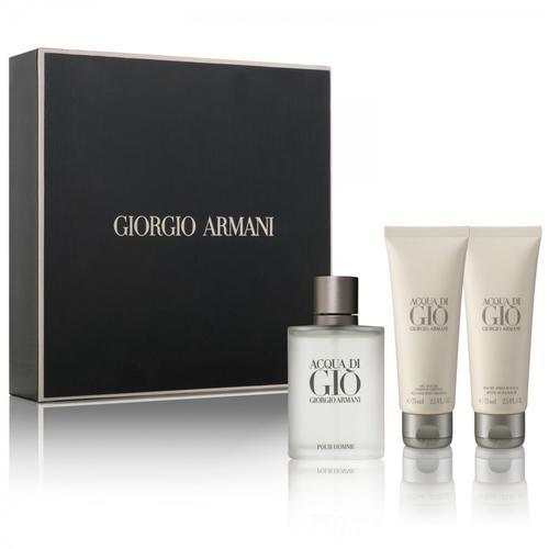 Fragrances for him armani acqua di gio gift set for men for Bathroom sets for men