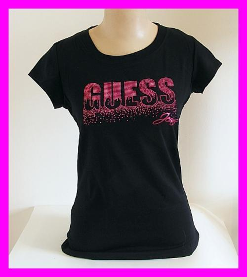 T-shirts & Tops - LADIES BLACK GUESS T-SHIRT - LARGE was ...