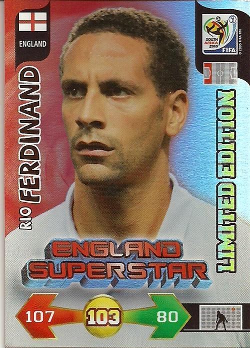 Rio Ferdinand Adrenalyn XL Champions League 10//11