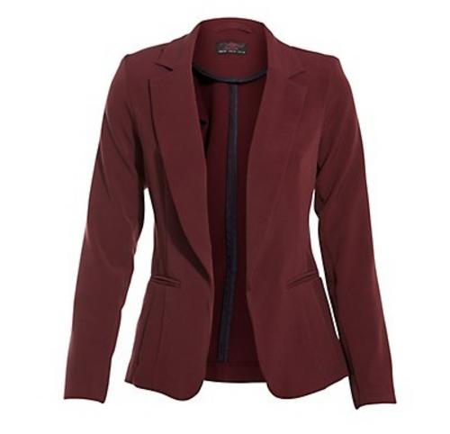 Womens Maroon Blazer - Trendy Clothes