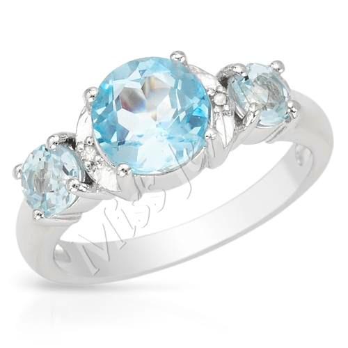 rings 2 33ctw blue topaz promise ring 925