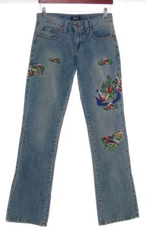 Jeans  Authentic Dolce Amp Gabbana Embroidered Jeans  Size