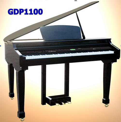 Piano organ clavitech gdp1100 mini grand digital piano for Small grand piano