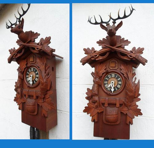 Cuckoo Wall Clocks Fabulous Unusual Vintage Black