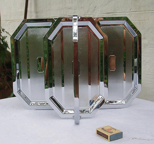 Art Deco Folding Cake Stand : Utensils - VISUALLY STRIKING~ART DECO CHROMIUM PLATE ...