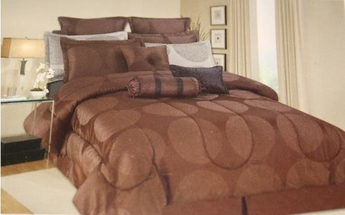 9 PCE TIGER LUXURY COMFORTER SET - QUEEN BED SIZE