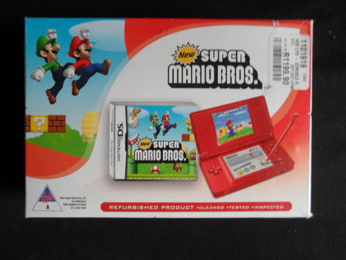 consoles nintendo ds lite red super mario bros game in box was sold for on 23 mar at. Black Bedroom Furniture Sets. Home Design Ideas
