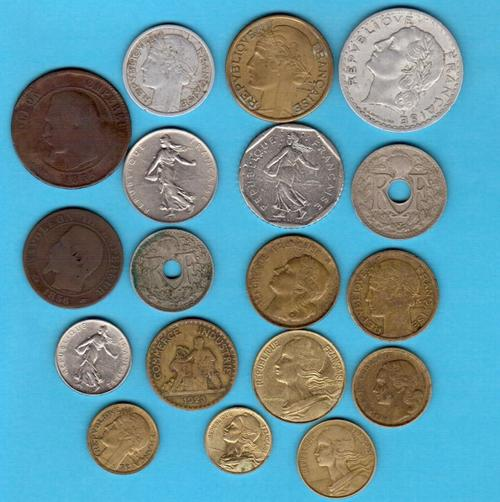 Europe - Set of French coins - no duplicates - includes coins from ...