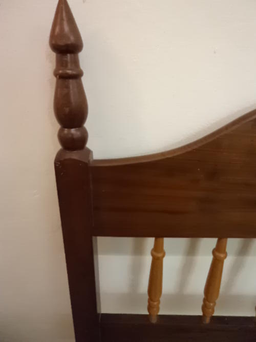 Other Furniture - Single Imbuia and Yellow Wood Headboard was