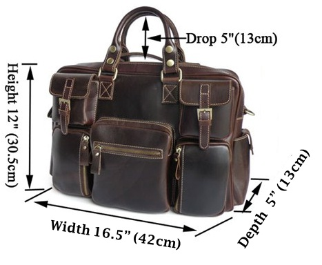 Genuine Leather Laptop, Tablet PC, iPad, Samsung Galaxy,  Acer Iconia, Asus Transformer, Blackberry Playbook, HTC Flyer, Motorola Xoom Briefcase Shoulder Bag for Men