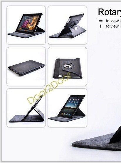 iPad 2 Case 360 degree Cover Swivel Case Leather Cheap Case for iPad 2