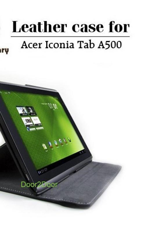 Leather Case for Acer Iconia Tablet A500 360 degree rotation Acer Cover