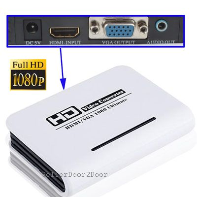 HDMI to VGA Video Converter - PS3, XBOX,DVD to VGA Screen