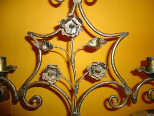 WROUGHT IRON FLOOR CANDELABRA