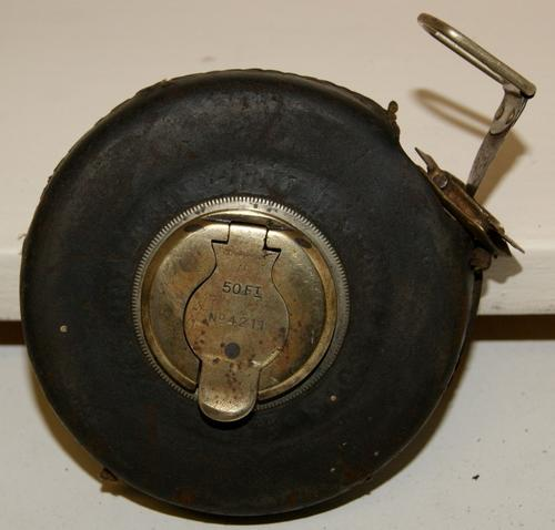 Antique Leather Cased John Rabone & Son 50FT Tape Measure No.4211