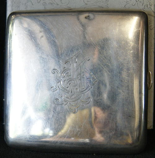 Antique Gilpin & Co 1915 Birmingham Hallmarked Silver Cigarette Case - 108.2gms