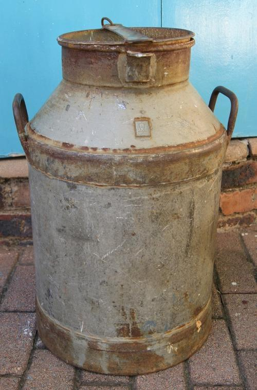 Vintage Large Metal Milk Churn or Can