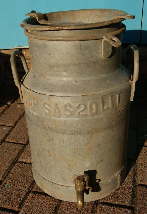 Vintage South African Railways Water Churn or Can