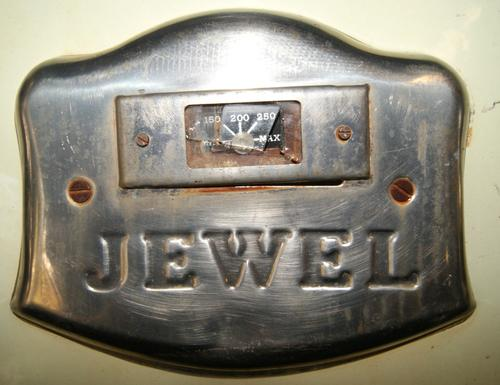 Vintage Jewel Cast Iron Oven Door
