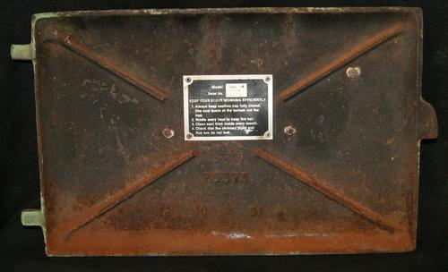 Vintage Jewel Cast Iron Oven Door