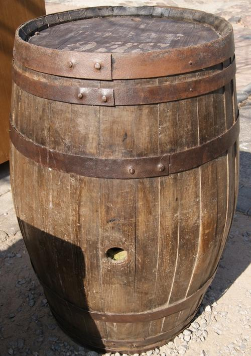 Vintage Original Wine Barrel Alcohol Cabinet
