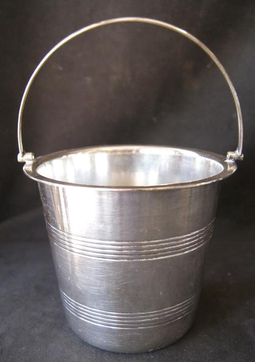 Vintage Angora Silver Plated Ice Bucket