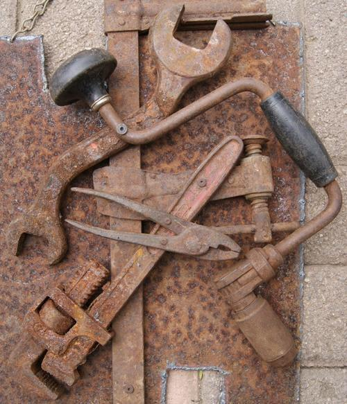 Vintage Cast Iron Assorted Tools Hanging Picture