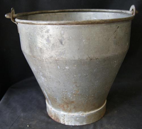 Vintage H&H Galvanized Metal Milking Bucket