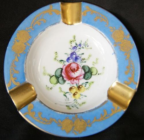 Vintage Porcelain Small Floral Ashtray