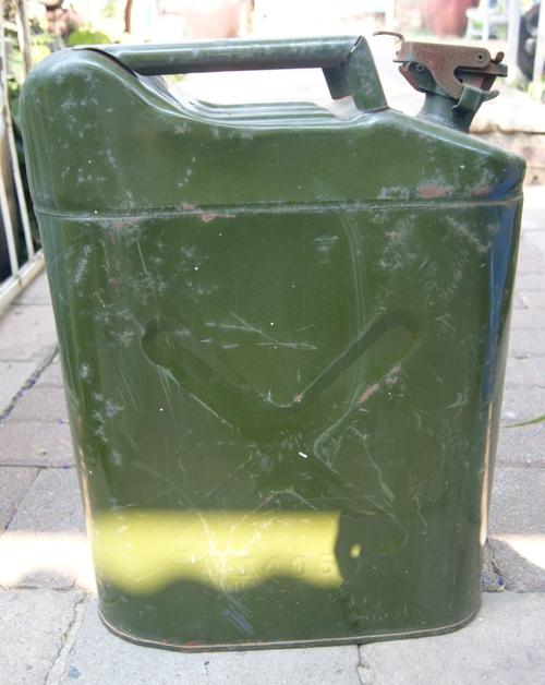 Vintage Olive Green Metal 20L Jerry Can