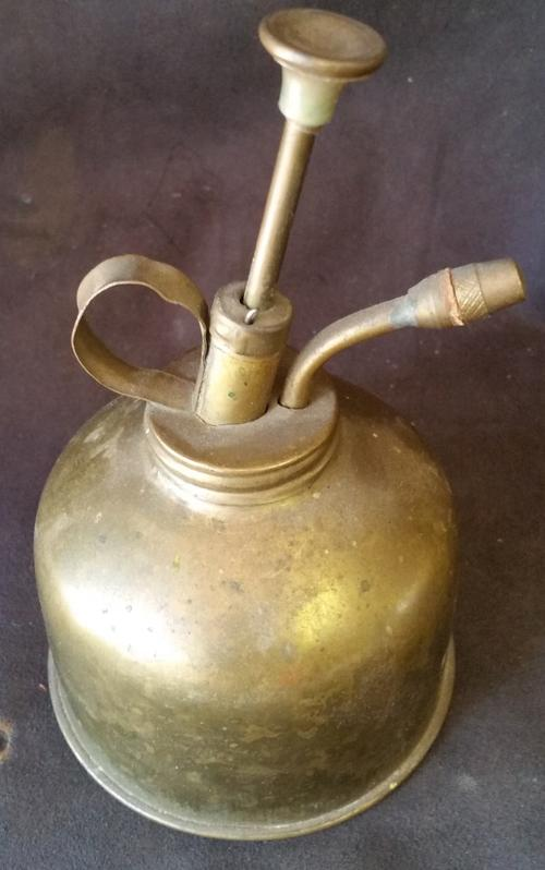 Vintage Brass Hand Pump Oil Can