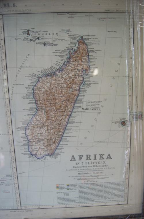 Vintage Stielers Hand Atlas Afrika BL.5  Map of Somalia and Madagascar- 1:7.500 000