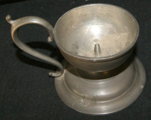 Vintage Pewter Candle Holder