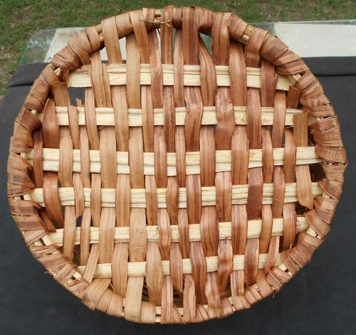 Vintage Large Woven Basket with Handle