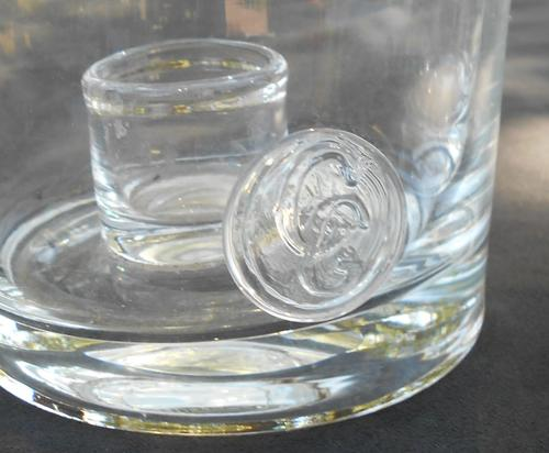 Vintage Large Pair of Caithness Scotland Glassware Candle Holders