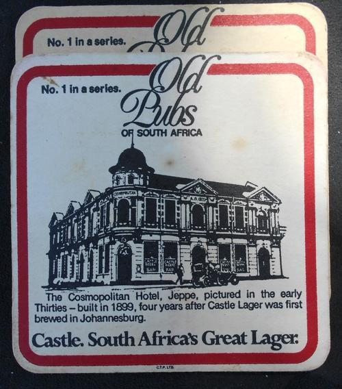 Vintage Castle Lager 'Old Pubs of South Africa' Series Paper Beer Coasters