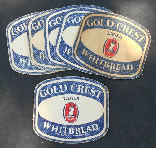 Vintage Gold Crest Whitbread Lager Paper Beer Coasters