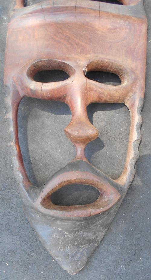 Hand Carved African Wood Mask
