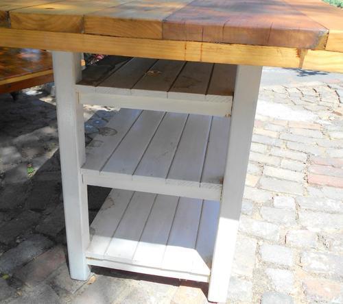 Large Oregon Thick Top Rectangular Kitchen Island Table
