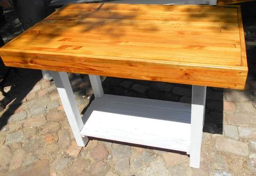 Large Oregon Thick Top Rectangular Kitchen Island Table