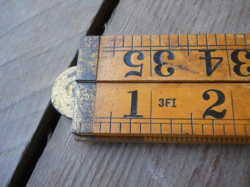 antique folder ruler sybren
