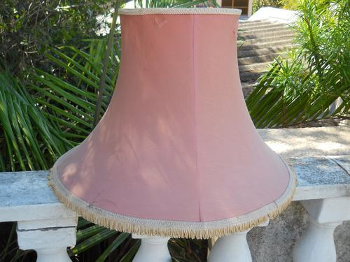 Other Lighting Very Large Pink Vintage Lamp Shade Has