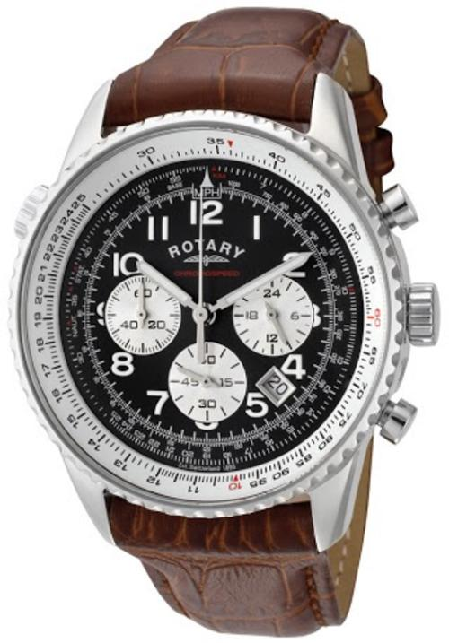 s watches rotary chronospeed flightmaster gents