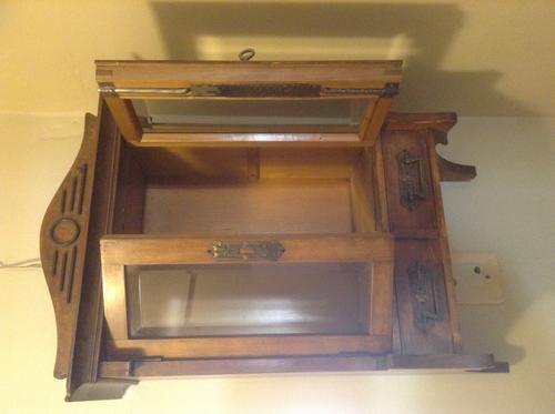 Victorian Walnut Medicine Cabinet Was Listed