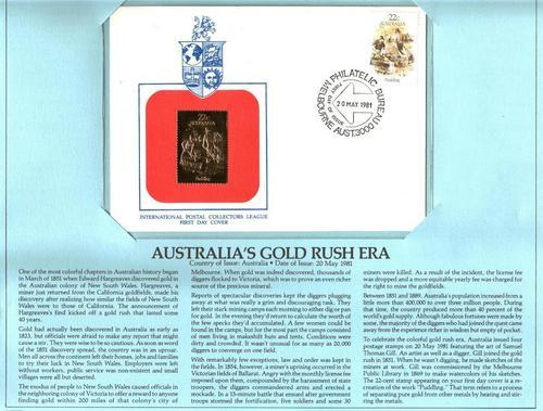 gold rush map australia. 23K FDC Australia#39;s Gold Rush