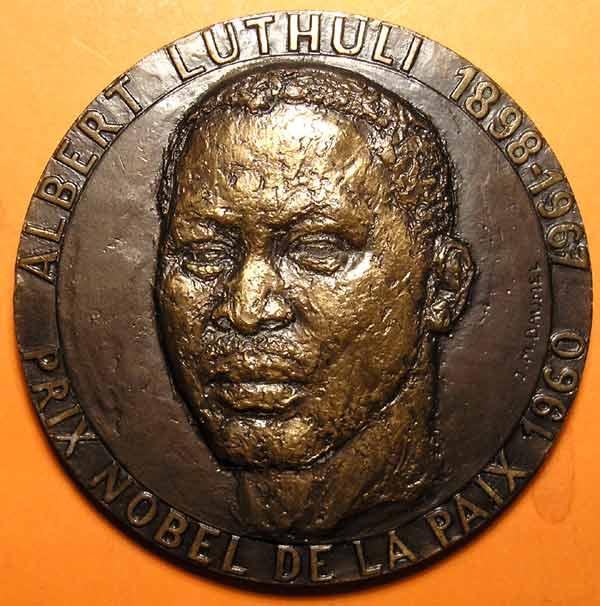 Albert Luthuli Large Bronze Art Medal  RARE