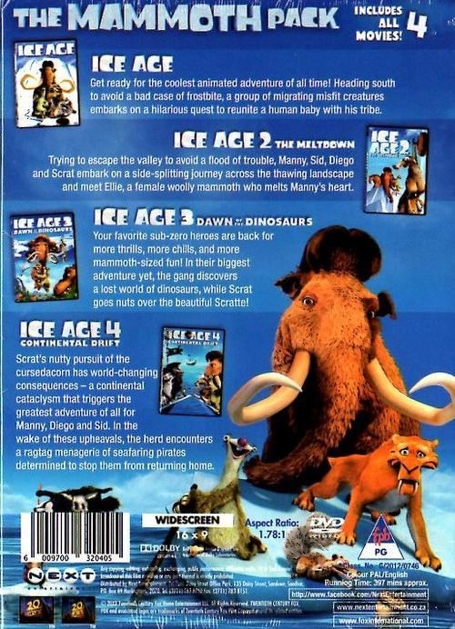 Animation Ice Age The Mammoth Pack Ice Age 1 2 3
